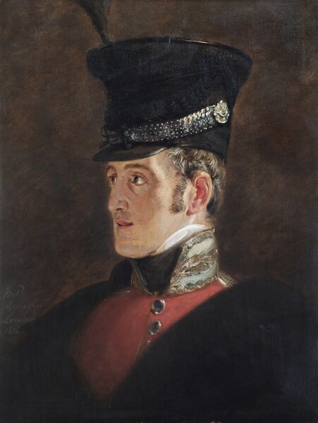 APSLEY HOUSE, London. Field Marshal Sir John Colborne (1778-1863; created First Baron Seaton in 1839) sketched by Jan Willem PIENEMAN in 1821 (WM 1475-1948). In 1815 at the Battle of Waterloo Colonel Colborne commanded the 52nd Foot (Oxfordshire Light Infantry)