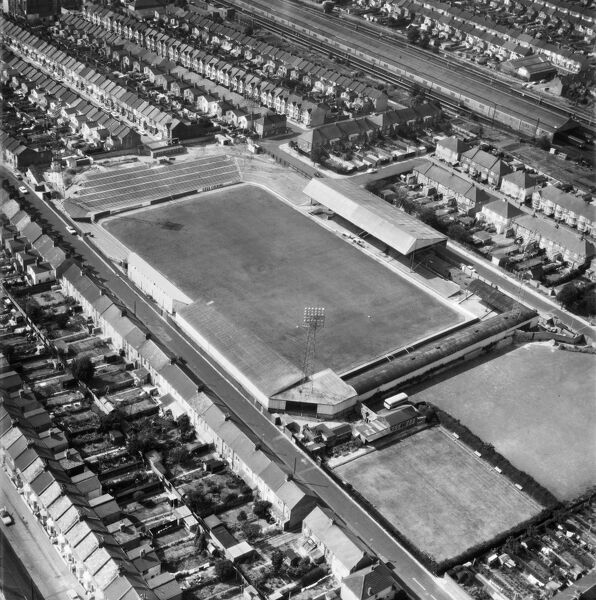 Priestfield Road Stadium, Gillingham. Photographed in July 1972. Aerofilms Collection