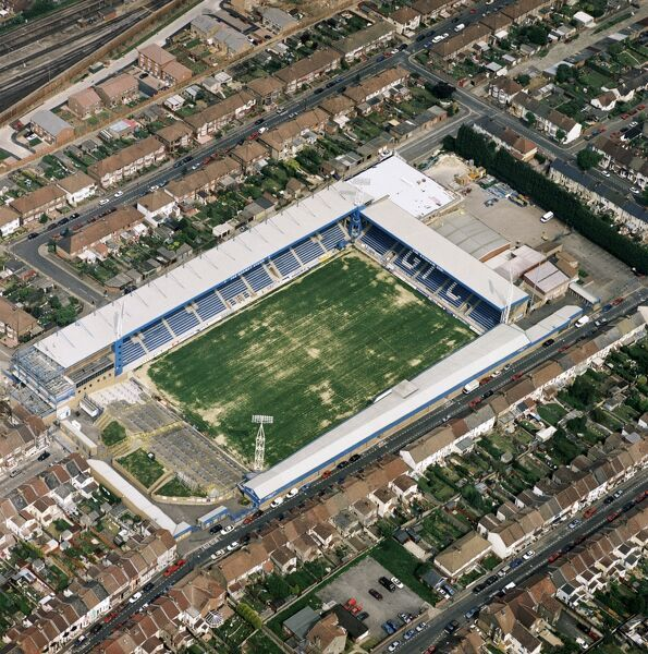PRIESTFIELD STADIUM, Gillingham. Home of Gillingham Football Club - The Gills. Photographed in May 2001. Aerofilms Collection (see Links)