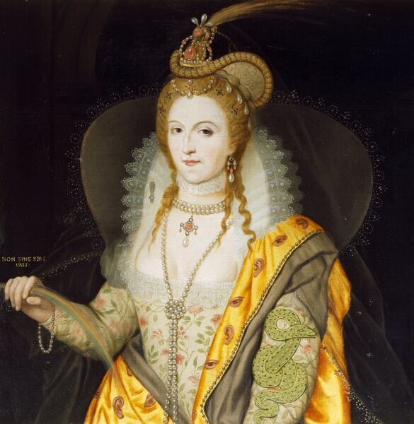 "AUDLEY END HOUSE, Essex. ""Elizabeth I"" by Biagio REBECCA (1735-1808). After Marcus Gheeraerts the Younger"