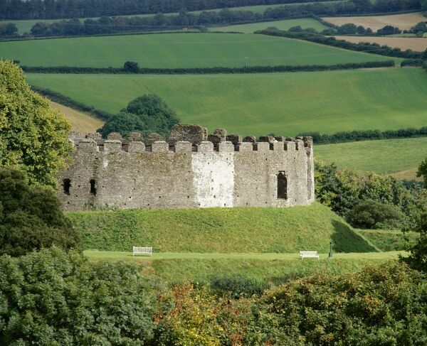 RESTORMEL CASTLE, Cornwall. View from the South West