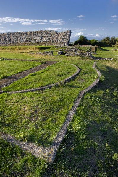 RICHBOROUGH ROMAN FORT,Kent. Foundations of the Chapel of St Augustine