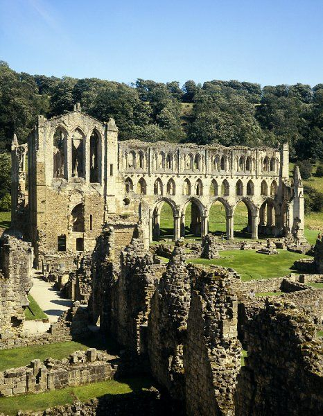 RIEVAULX ABBEY, North Yorkshire. General view of the abbey