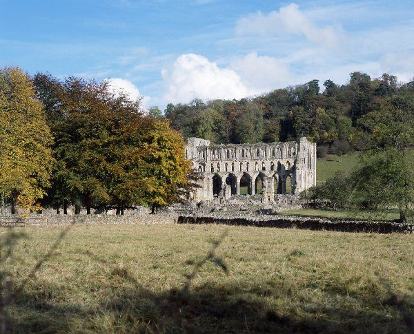 RIEVAULX ABBEY, North Yorkshire. View from the South West