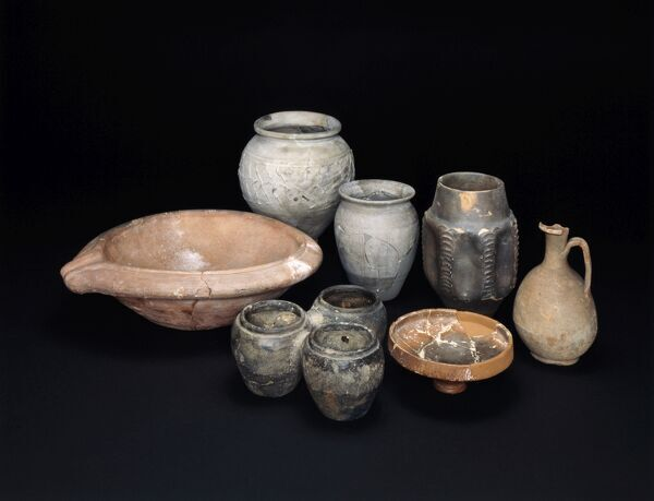 ALDBOROUGH ROMAN TOWN, North Yorkshire. Assorted group of Roman pottery vessels