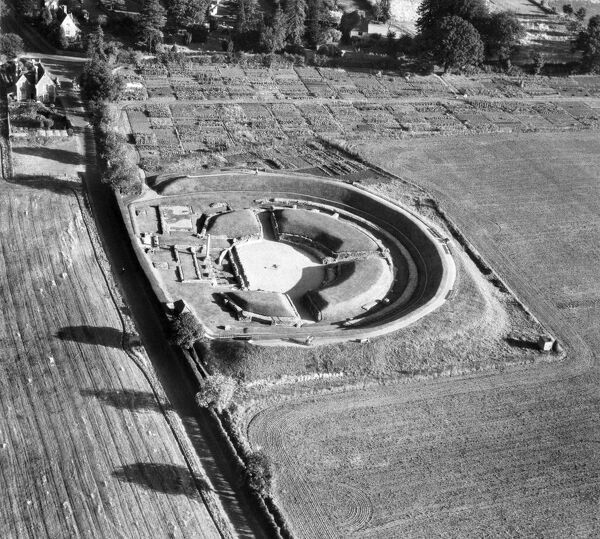 VERULAMIUM, St Albans, Hertfordshire. This Roman Theatre is unique in Britain - the only known example of a theatre with a stage rather than an Amphitheatre