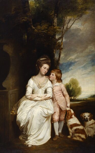 "KENWOOD HOUSE, THE IVEAGH BEQUEST, London. ""Anne Countess of Albemarle and Her Son"" 1777-79 by George ROMNEY (1734-1802)"