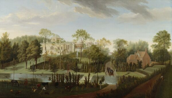 "CHISWICK HOUSE, London. ""A View of Chiswick House from the South-West"" 1729-1732 by Pieter Andreas RYSBRACK (c"