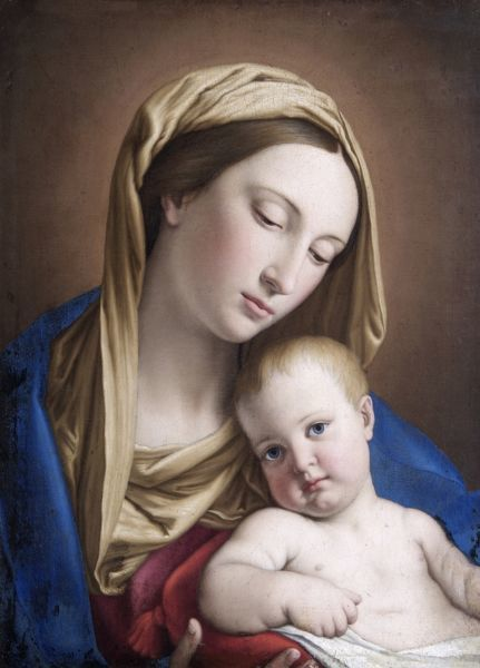 "APSLEY HOUSE, London. ""Virgin and Child"" by Giovanni Batista SALVI (aka Sassoferrato 1609-85). Previously part of the Spanish Royal Collection. Captured by Wellington at Vitoria in 1813"