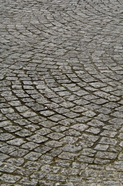 Cobbled street surface, Castlefield Area, Manchester