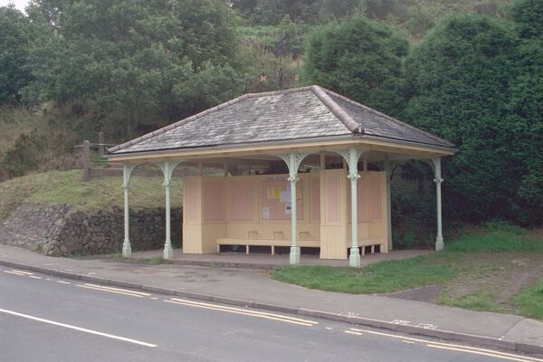Open shelter situated in Colwall, Herefordshire. IoE 151487