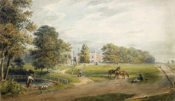 "RANGERS HOUSE, Blackheath, London. ""A View of Rangers House"" by George Sidney Shepherd"