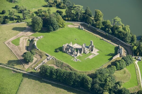 SHERBORNE OLD CASTLE, Dorset. Aerial view