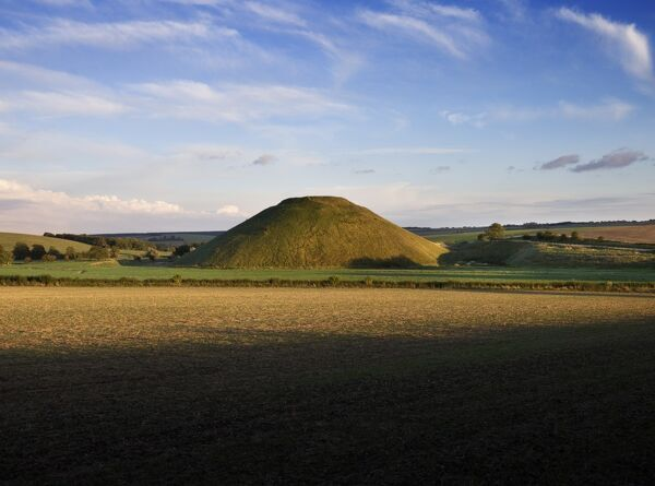 SILBURY HILL, Avebury, Wiltshire. General view of Silbury Hill