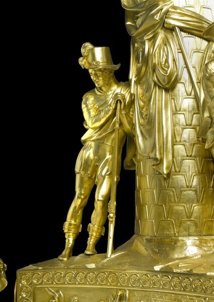 APSLEY HOUSE, London. Detail of silver gilt centrepiece made in 1822 showing a Spanish soldier of around 1808. Presented to the Duke of Wellington by Bankers and Merchants of the City of London. WM805-1948