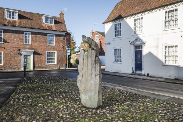 The Symbol of Discovery (1963) by John Skelton, East Row, Chichester, West Sussex. General view from the east. Photographed by Steven Baker 2014