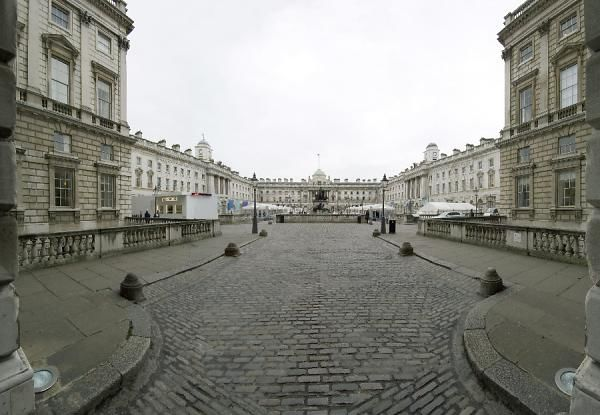 SOMERSET HOUSE, Strand, London. General view looking south