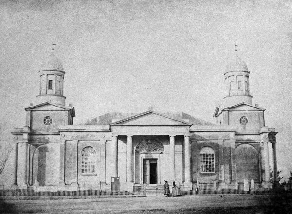 ST MARY'S CHURCH, Mistley, Essex. This church was designed and built in 1776 by the famous architect Robert Adam, in the neo-classical style. The central portion was demolished in 1870, but the east and west towers are still standing