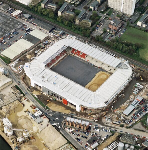 ST MARY'S STADIUM, Southampton. The new home of Southampton Football Club nearing completion in April 2001. Aerofilms Collection (see Links)