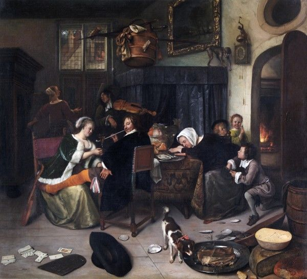 "APSLEY HOUSE, London. ""The Dissolute Household"" by Jan STEEN (1625-79). WM 1514-1948"