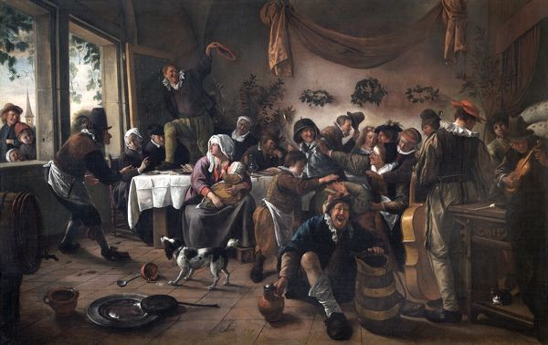 "APSLEY HOUSE, London. ""A Wedding Party"" 1667 by Jan STEEN (1625-79). WM 1510-1948"