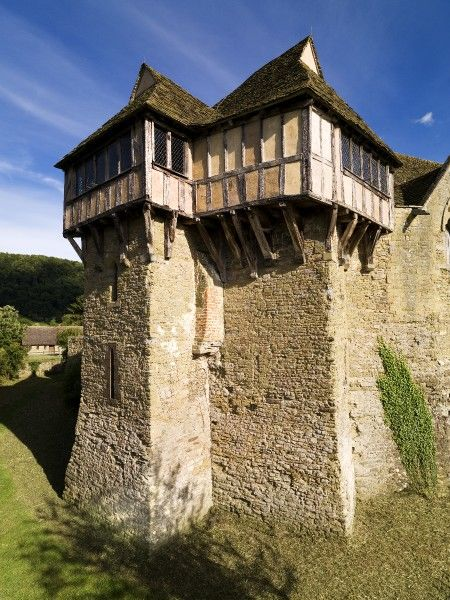 STOKESAY CASTLE, Shropshire. View of the North Tower