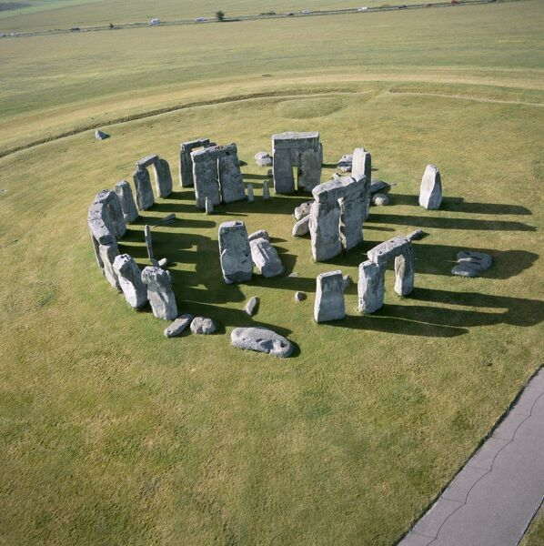 STONEHENGE, Wiltshire. Aerial view of the site looking south east