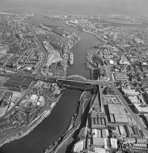 Sunderland and the mouth of the River Wear. May 1981. Aerofilms Collection