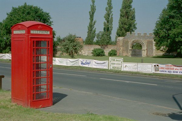 Telephone Kiosk to south of St. Osyth's Priory, Essex. IoE 429149