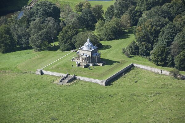 Temple of the Four Winds, Castle Howard, North Yorkshire. One of the key garden buildings in Sir John Vanbrugh's designed landscape