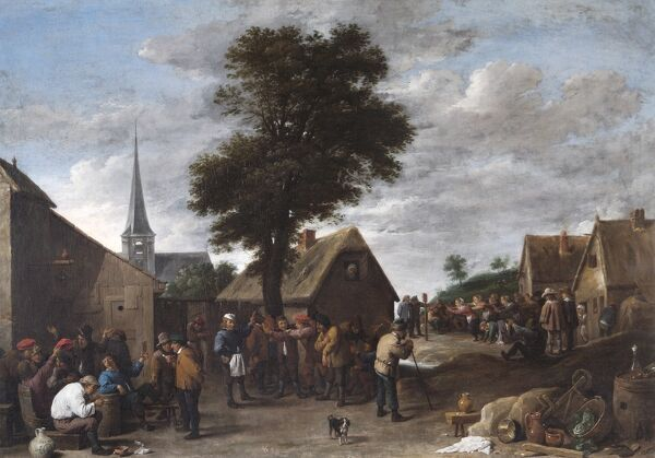 "APSLEY HOUSE, London. ""A Flemish Village Festival"" by David TENIERS the younger (1610-90). Provisionally Spanish Royal Collection. Bought 1840? WM 1581-1948"