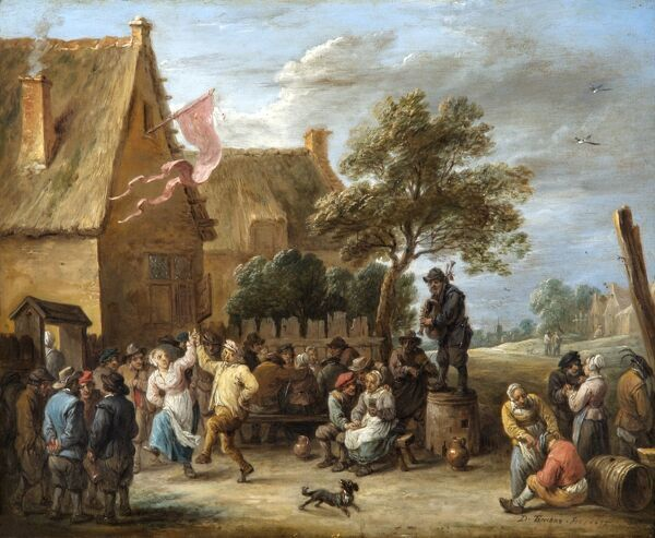 "APSLEY HOUSE, London. ""A Village Merrymaking at a Country Inn"" by David TENIERS the younger (1610-90). WM 1499-1948"