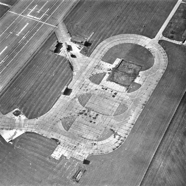Bedford Airfield, Bedfordshire. Thurleigh Airbase hosted the 8th US Airforce during the Second World War and was known as station 111