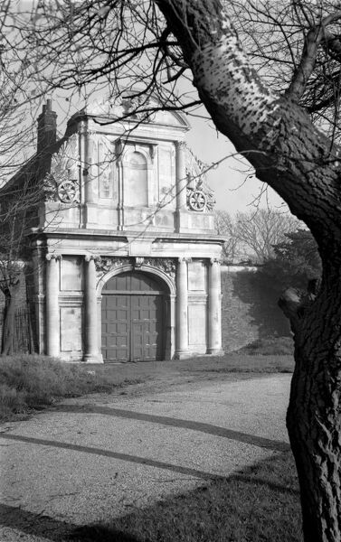 TILBURY FORT, Tilbury, Chadwell St Mary, Essex. The entrance to the 17th-century fort which was designed by King Charles II's chief engineer. Photographed by Stanley W Rawlings. Date range: 1945-1965