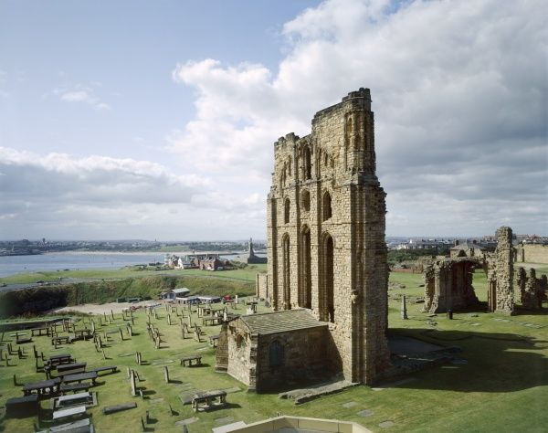 TYNEMOUTH PRIORY, Tyne and Wear. The Presbytery and Percy Chantry from the North