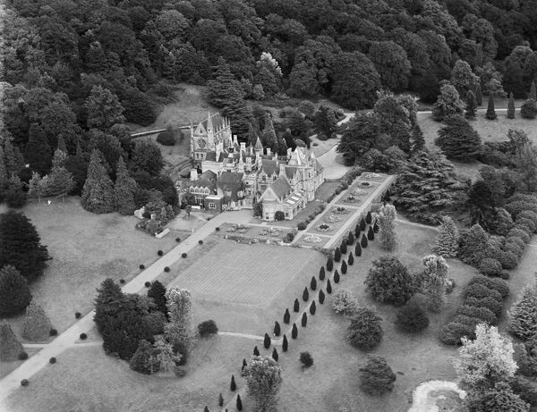 Tyntesfield House, Wraxall, North Somerset. Now a National Trust property. Aerial view by Aeropictorial. Aerofilms Collection. June 1947