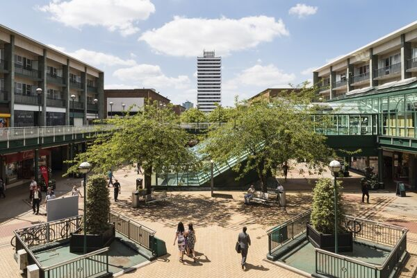 Upper Precinct, Coventry, West Midlands. General view from the east