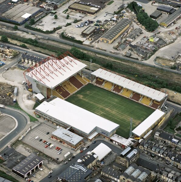 VALLEY PARADE, Bradford. Home of Bradford City Football Club - The Bantams. Photographed in May 2000. Aerofilms Collection (see Links)