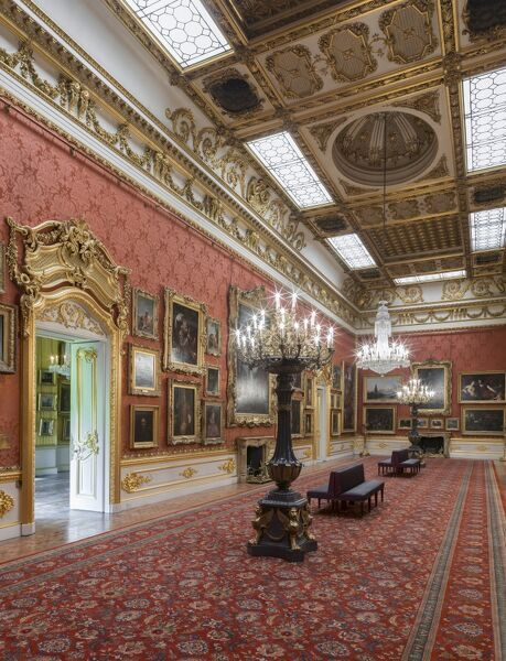 APSLEY HOUSE, London. Interior. View of the Waterloo Gallery, viewed from the north