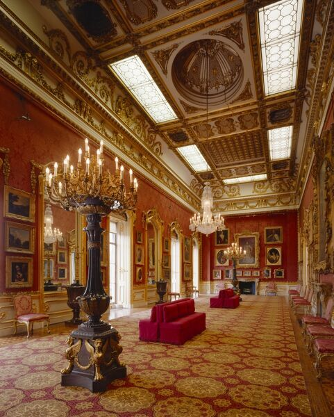 APSLEY HOUSE, London. Interior view. The Waterloo Gallery