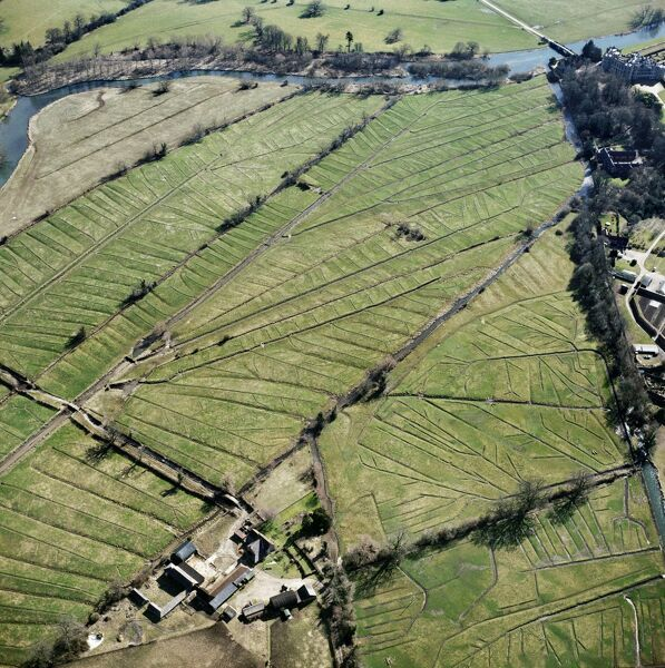 Lower Farm, Britford, Wiltshire. At Britford, just south of Salisbury on the River Avon, a complex system of leats is used to channel water over the valley bottom in order to encourage early spring grass for flocks of sheep