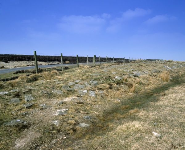 WHEELDALE ROMAN ROAD, North Yorkshire. View of remains of road