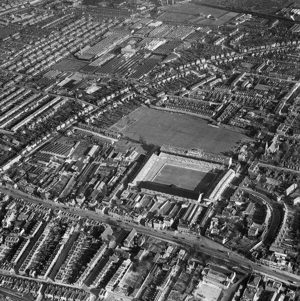 White Hart Lane, Tottenham, Haringey, Greater London. The stadium of Tottenham Hotspur Football Club, photographed in November 1949 by Aerofilms