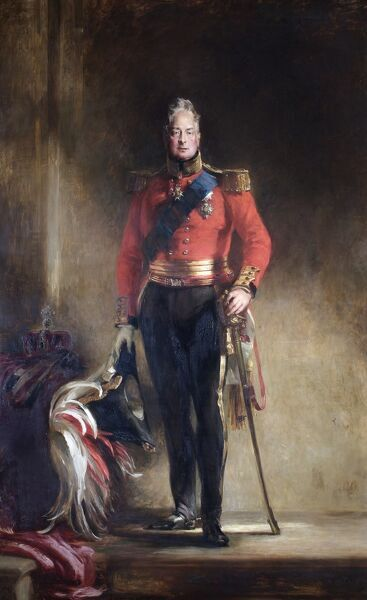 "APSLEY HOUSE, London. ""King William IV"" 1833 by Sir David WILKIE (1785-1841) WM.1460-1948"