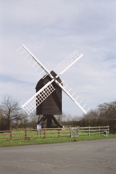 Post Mill of c.1612, believed to be the oldest in England. IoE 395788