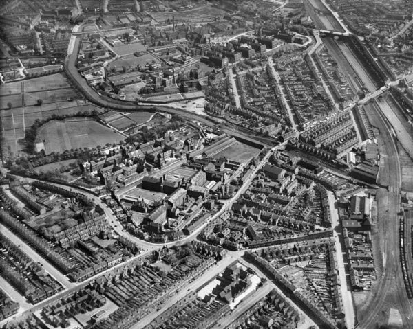 HM Prison, the City Mental Hospital and environs, Winson Green, Birmingham. Aerial photograph taken by Aerofilms in May 1937