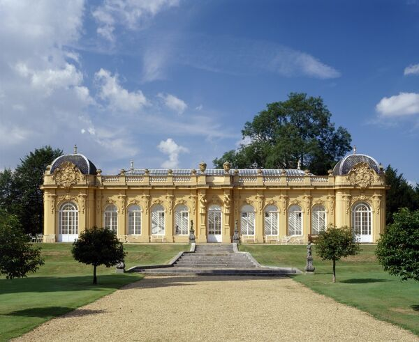 WREST PARK HOUSE AND GARDENS, Silsoe, Bedfordshire. The Orangery c1835 designed by Thomas Philip 2nd Earl de Grey