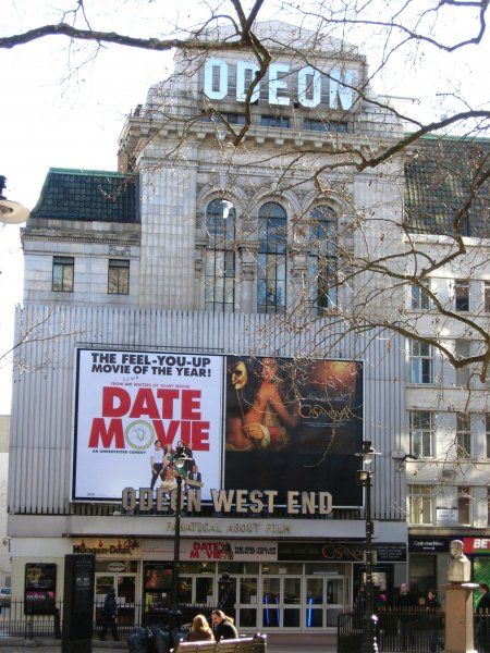 ODEON WEST END, Leicester Square, London Photographed early 2006 formerly known as RKO Theatre; Leicester Square Theatre CASANOVA [US 2005] released in Britain in February 2006] DATE MOVIE [US 2006] released in Britain in February 2006