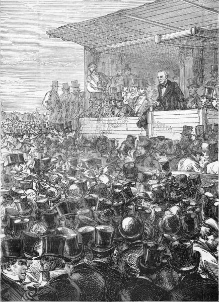 Gladstone on the Hustings at Blackheath in 1871