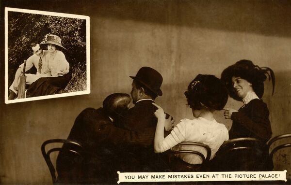 EARLY CINEMA POSTCARD YOU MAY MAKE MISTAKES EVEN AT THE PICTURES
